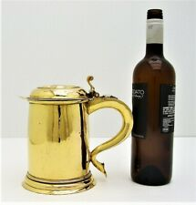 Hand Hammered Gold Plated Copper Tankard Baroque Style c 1720