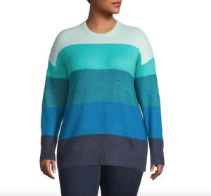 Lord & Taylor Plus size 1x Knit Colourblock Sweater