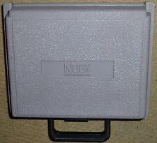 NINTENDO GAMEBOY ORIGINAL CONSOLE GAME CARRY CASE HOLDER Grey Rigid Plastic Box