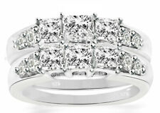 Real 925 Sterling Silver 14k gold plating Women's Weddings 6ct Rings sz 4-11.5