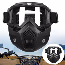Detachable Modular Riding Motorcycle Face Masks Helmets Goggles Shield Motor UK
