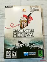 Great Battles Medieval PC DVD-Rom Kids Game History Channel with Booklet