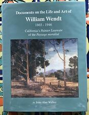 "NEW BOOK: ""Documents On The Life And Art Of William Wendt 1865-1946"""