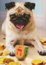 Pug with Dreidel Dog Boxed Hanukkah Cards - 10 Greeting Cards by Avanti Press