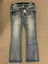 New APT9 Missy Stretch Denim boot cut Jeans Size 4 Mid Rise Vintage wash #10