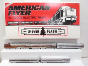 American Flyer 6-49606 Silver Flash AB S Gauge Diesel Passenger Train Set LN/Box