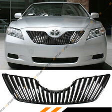 FOR 2007-2009 TOYOTA CAMRY GLOSSY BLK SPORT VIP VERTICAL FRONT HOOD GRILL GRILLE