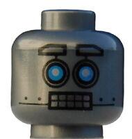 Lego Kopf in silber (flat silver) Roboter 3626cpb1848 Axl Bot Clay Alien Neu