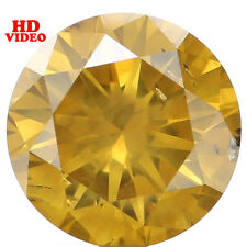 Natural Loose Diamond Round Fancy Color SI2 Clarity 5.85X3.60 MM 0.78 Ct L4618