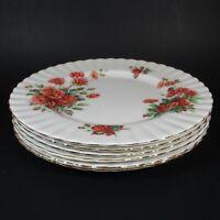 "Royal Albert CENTENNIAL ROSE 6 Salad Plates 8.25"" Bone China Plate England"