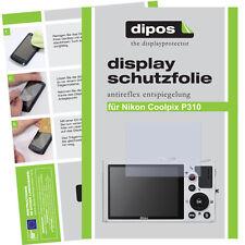 2x Nikon Coolpix P310 Schutzfolie matt Displayschutzfolie Antireflex Passgenau