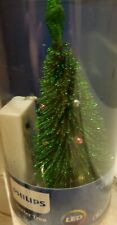 "Philips LED Glitter Christmas Tree Multi Lights Battery Operated 6.75"" NEW"