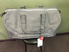 eb0e671da2 Herschel Supply Co Novel M Grey Crosshatch Duffle Bag Pack Authentic NEW w  Tags