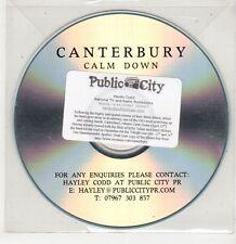 (GU46) Canterbury, Calm Down - DJ CD