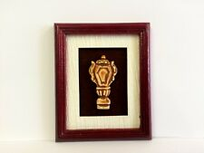 Marrón griego urna (diseño 2) Caoba Foto Enmarcada, Muñecas En Miniatura