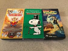VHS Fievel Goes West Christmas Time Again Charlie Brown Back To The Future