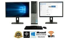 "FAST Dell package Core i5 Quad Core 8GB 240GB SSD Windows 10 PRO Dual 22"" LCD"