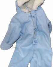 First Impressions Baby Boy's Footed and Gloved Snowsuit Pale Blue Bear 3-6 Mos.