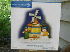 DEPT 56 SNOW VILLAGE WINDMILL WISHING WELL NIB