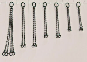 Crane Lifting Sling Chain Set. In Black. 1/50th, 1/48th