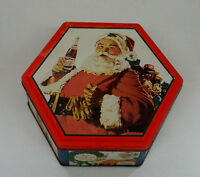1999 Pepsi cola Christmas santa collectible metal  tin container cookie  sewing