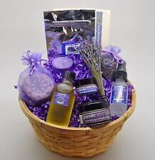 Lavender Gift Basket Free Same Day Shipping-Travel Size Massage Oil Option