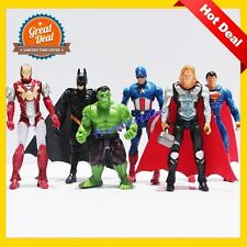 Big Sale 6Pcs/Lot The Avenger Figures Super Hero Toy Thor Hulk Batman Ironman