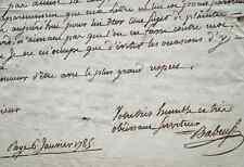 Très rare lettre de Gracchus Babeuf.