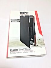 Tech21 CLASSIC SHELL EVO WALLET FLIP CASE COVER FOR SAMSUNG GALAXY NOTE 4 in BK