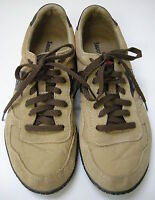Saucony Sneakers Shoes Tan Leather Nylon Suede Womens Size 9 / 40.5
