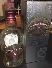 Chivas Regal 12 Whiskey Empty Bottle & presentation box