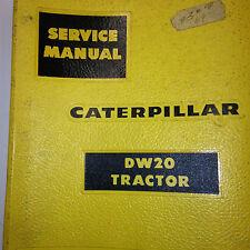 Caterpilliar DW20 Tractor Original Dealer Service Book