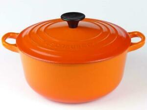 Le Creuset Volcanic Orange Cast Iron 20cm Casserole Dish