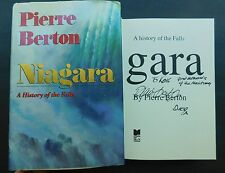 SIGNED history of NIAGARA Falls PIERRE BERTON  hardcover dustjacket 1st ed 1992