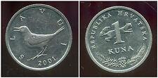 CROATIE  1 kuna 2001  ANM
