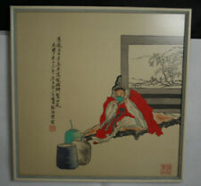 Three Classical Chinese Paintings on Silk Late Qing 光绪丁亥年陆惕甫铁石山房 #20140195