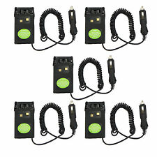 5XCar charger Battery Eliminator Adaptor For Wouxun Radio KG-UVD1P/UV6D/659/689F