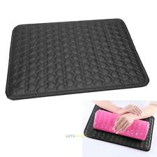 Nail Art Hand Arm Rest Pillow Cushion Heart-shaped Table Mat Pad Manicure  Black