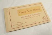 Vintage Postcard Book 6 cards Valle de la Meuse Serie 4 De Namur a Dinant