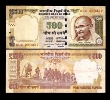 INDIA 500 RUPEES SYMBOL 2014 GANDHI RAJAN DANDI MARCH STATUE CURRENCY MONEY NOTE