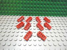 Lego 10 Red 2x1x2/3 technic slotted grille slopes brick block NEW