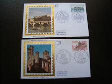 FRANCE - 2 enveloppes 1er jour 1978 (abbatiale aubazine/pont-neuf) (cy84) french