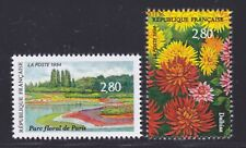 FRANCE N° 2909 & 2910 ** MNH, neufs sans charnière, fleurs, cote: 12 €, TB
