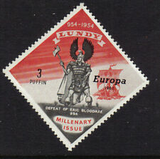GB 1961 LUNDY ISLAND EUROPA 1954 ISSUE 3p ERIC WITH SHIP MINT MNH GREAT BRITAIN