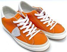 PHILIPPE MODEL 'Classic Lakers' Women's Designer Orange Sneakers - size UK 4