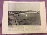 Antique Book Print - Aberdovey OR Freshwater Bay - UK - c. 1895