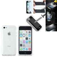 Housse Etui Coque Gel UltraSlim Parfait Pour Apple iPhone 5C + Film Verre Trempe
