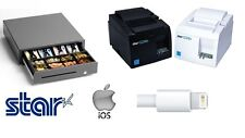 * NEW * Star TSP143III USB IPHONE & IPAD PRINTER & STAR CASH DRAWER