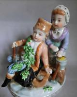 Figurine Winter Carl Thieme Potschappel 1902 Porcelain Antique Johann Carl decor