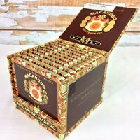 MACANUDO Maduro Empty Wooden Cigar Box & 10 Empty Tin Pocket Cases Santiago DR